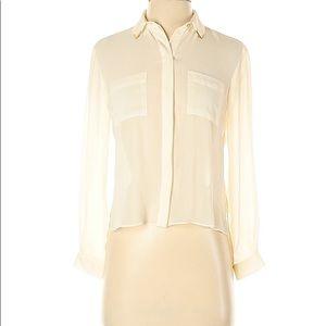 NWT-TOPSHOP Petite Ivory/Soft White blouse